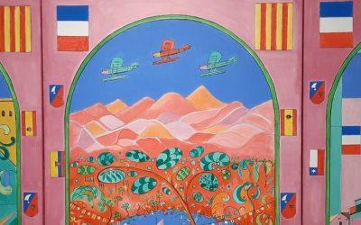 Vernissage de l'exposition des peintures de Claude Ollivier Augeraud