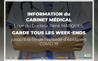 COVID 19 – Permanences cabinet médical