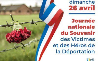 COVID 19 – Journée nationale du Souvenir des Victimes et des Héros de la Déportation